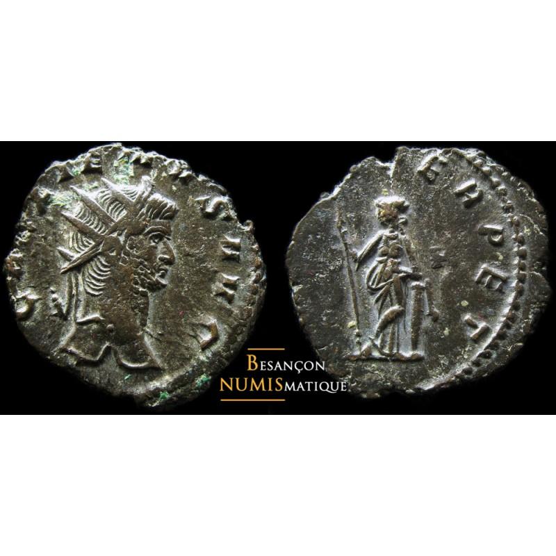 Monnaie romaine de l'empereur Gallien au revers SECVRIT PERPET