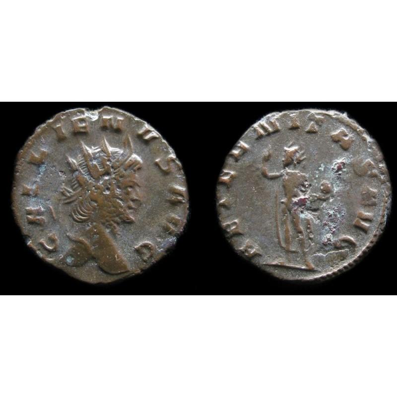 Monnaie romaine de l'empereur Gallien au revers AETERNITAS AVG