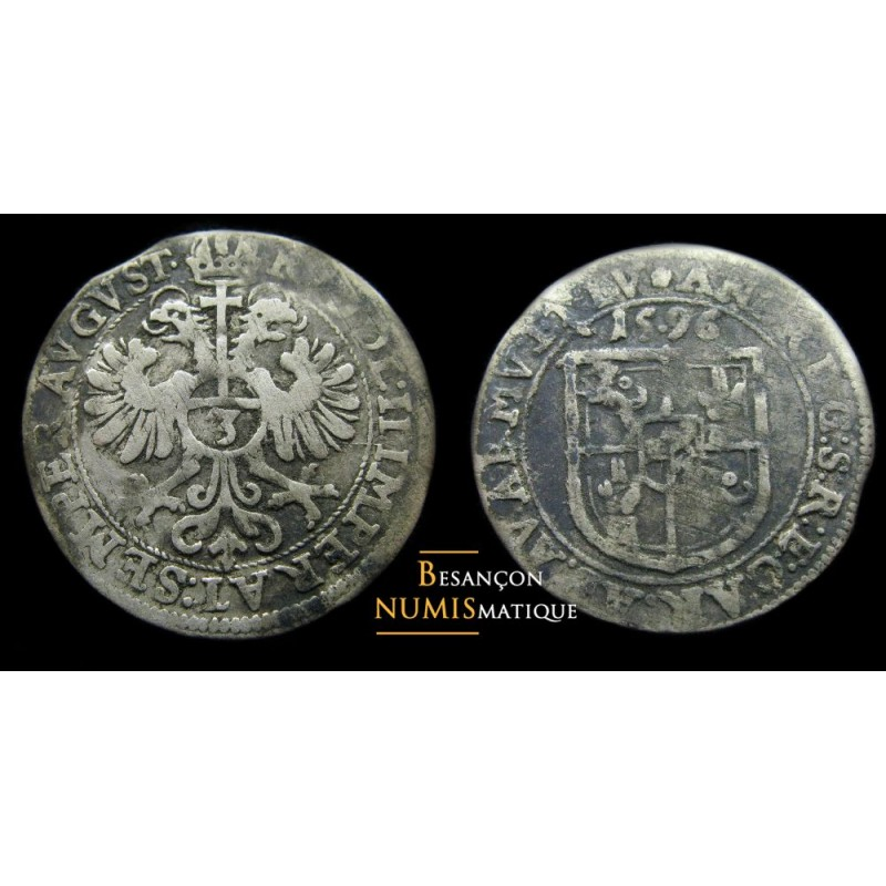 Monnaie féodale d'alsace Murbach et Lure - 3 kreuzer