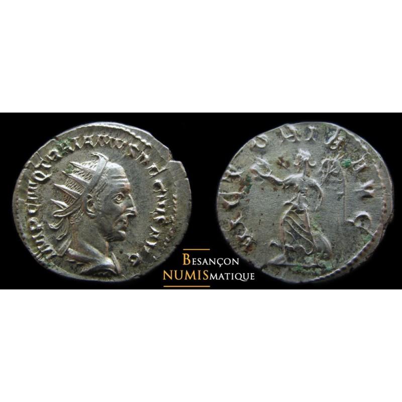 Monnaie romaine de Trajan Dèce. VICTORIA AVG