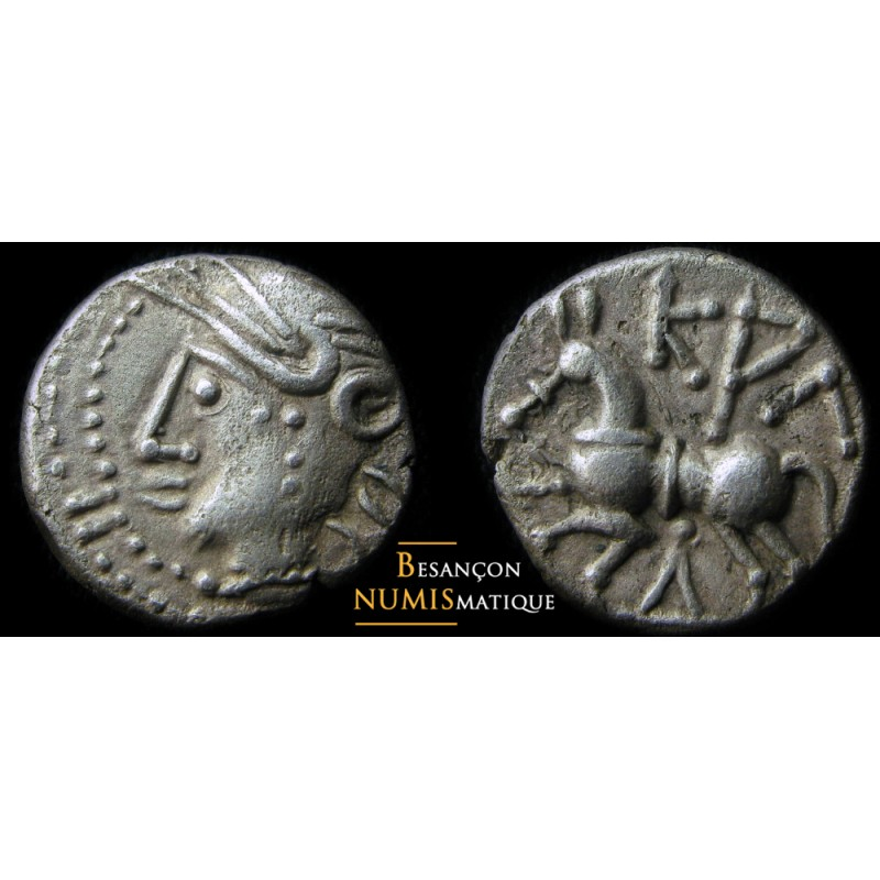 monnaie gauloise LINGONS  quinaire KALETEDOY