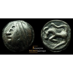 monnaie gauloise, SÉQUANES,  Potin à la grosse tête