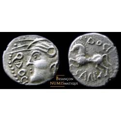 monnaie gauloise, SÉQUANES,   Denier Q. DOCI/SAM F