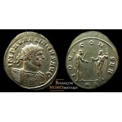 Monnaie d'aurélien pour siscia