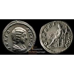 Monnaie romaine, denier de Julia Domna au revers CERERI FRVGIF