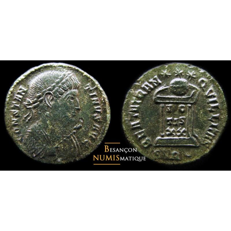 Monnaie romaine de Constantin I émise à Treves.
