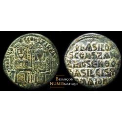 monnaie byzantine, BASIL I - FOLLIS - Sear 1710