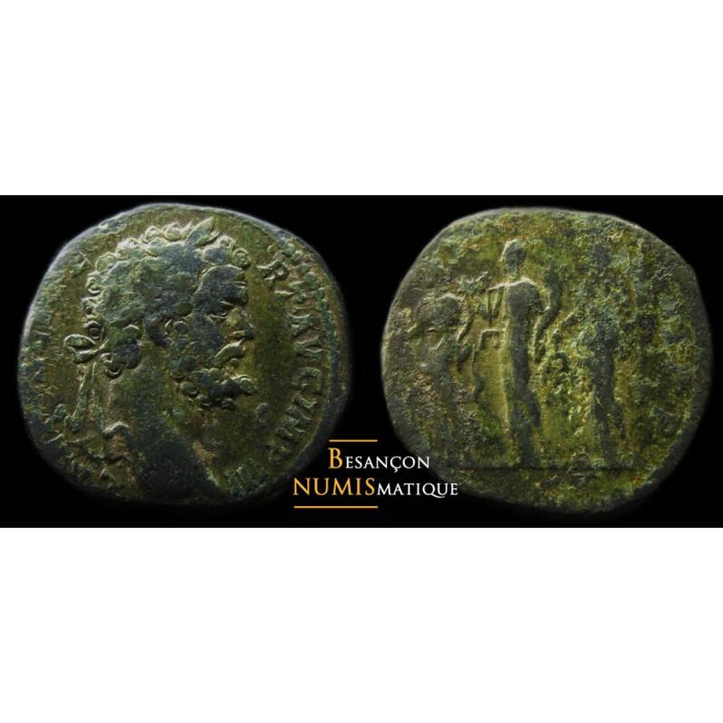 Maximiani Monetae - Page 30 Septime-severe-sesterce-les-3-monnaies-rare-belle-patine-