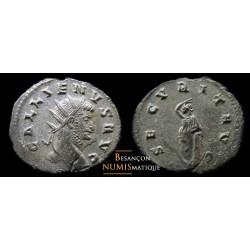 Monnaie romaine de Gallien au rare revers secvrit avg