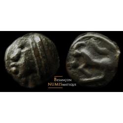 monnaie gauloise, SÉQUANES - Potin à la grosse tête