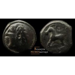 monnaie gauloise, SEQUANES - Potin au bandeau lauré