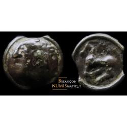 monnaie gauloise, SEQUANES - POTIN AU BANDEAU Q DOCI - PETIT MODULE