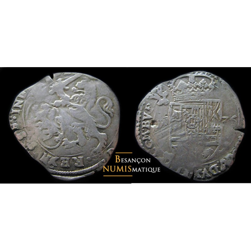 monnaie de dole, PHILIPPE IV - ESCALIN - 1635