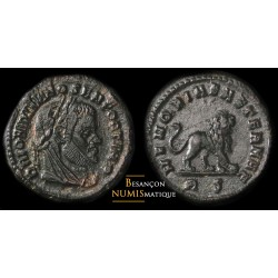 MAXIMIEN HERCULE, ¼ FOLLIS, lion