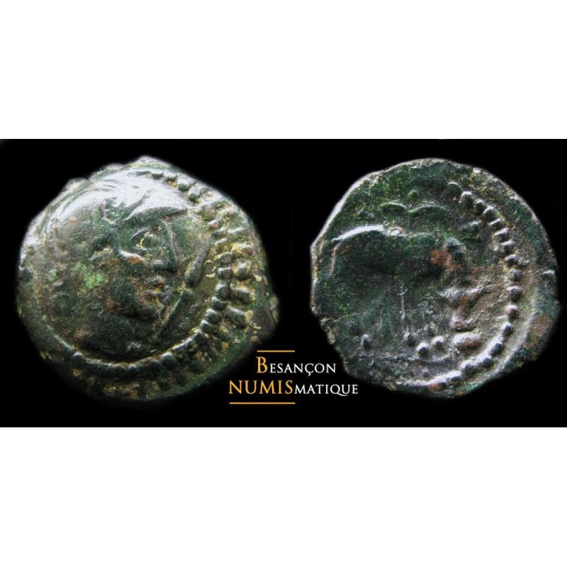 Monnaie gauloise, eduens, Bronze au taureau buvant