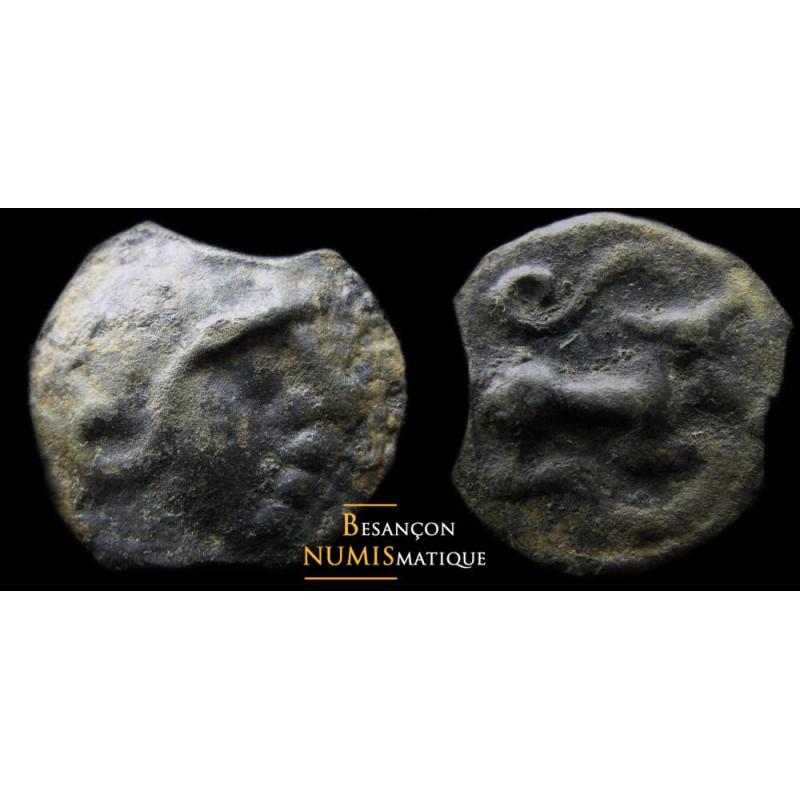 Monnaie gauloise, Eduens, potin au taureau tricornu