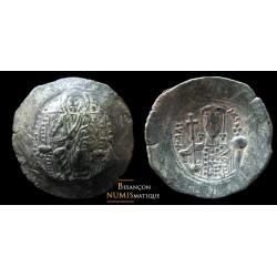 monnaie byzantine d'alexis Ier Billon Aspron Trachy au Christ