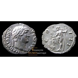 Denier romain de hadrien avec neptune au revers