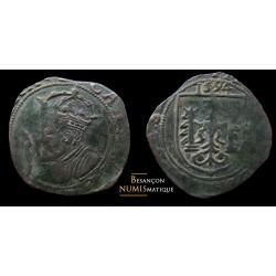 besançon, double de cuivre 1594