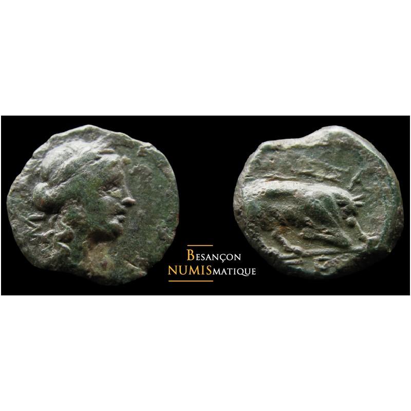 MASSALIA - MARSEILLE Bronze au taureau - 2.61g - QUALITÉ !