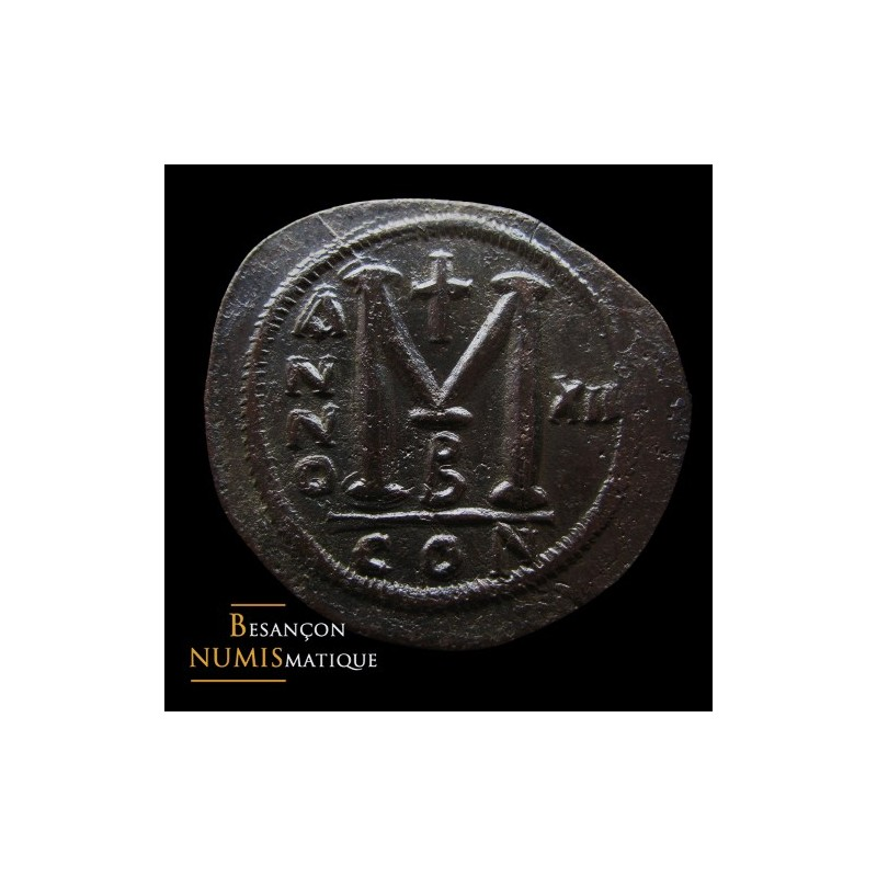 JUSTINIEN Ier -  Follis - Constantinople - Flan très large 45 mm - AN XII Rare !