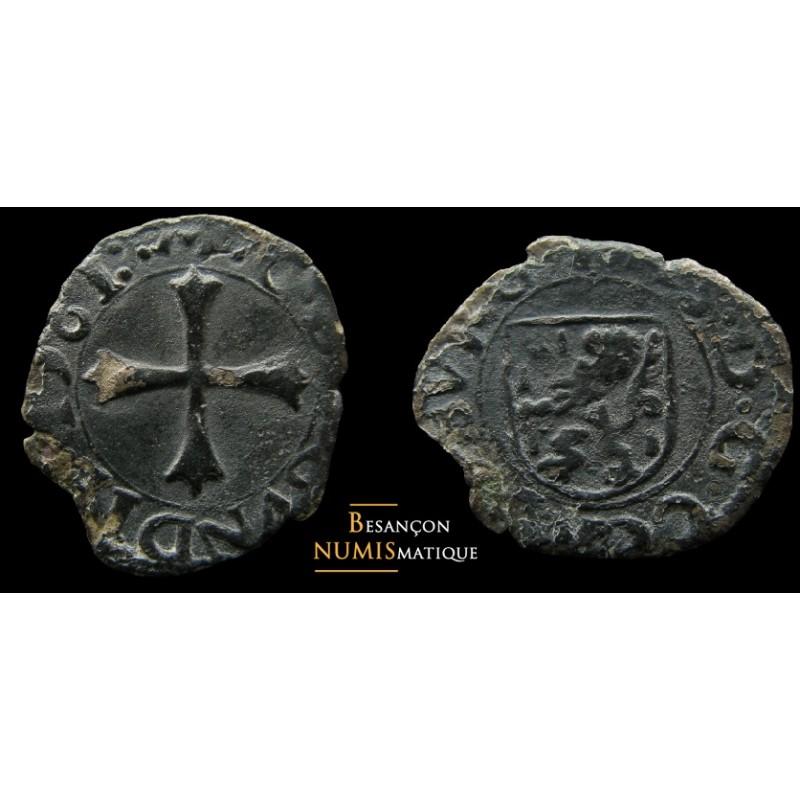 FRANCHE-COMTÉ - COMTÉ DE BOURGOGNE - PHILIPPE II - Liard -1561 var. (R5) -