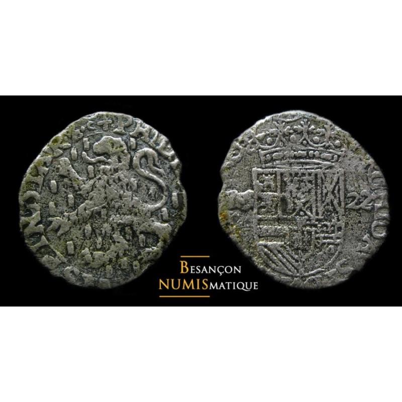BOURGOGNE - PHILIPPE IV D'ESPAGNE - DOLE - Carolus au lion - 1622 - cmr 5.1.10