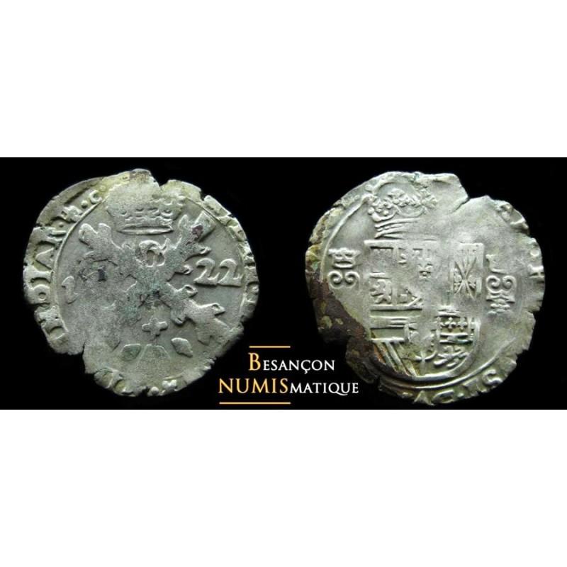 BOURGOGNE - PHILIPPE IV D'ESPAGNE - DOLE - TRENTE-DEUXIÈME DE PATAGON - 1622 - CMR 5.1.9