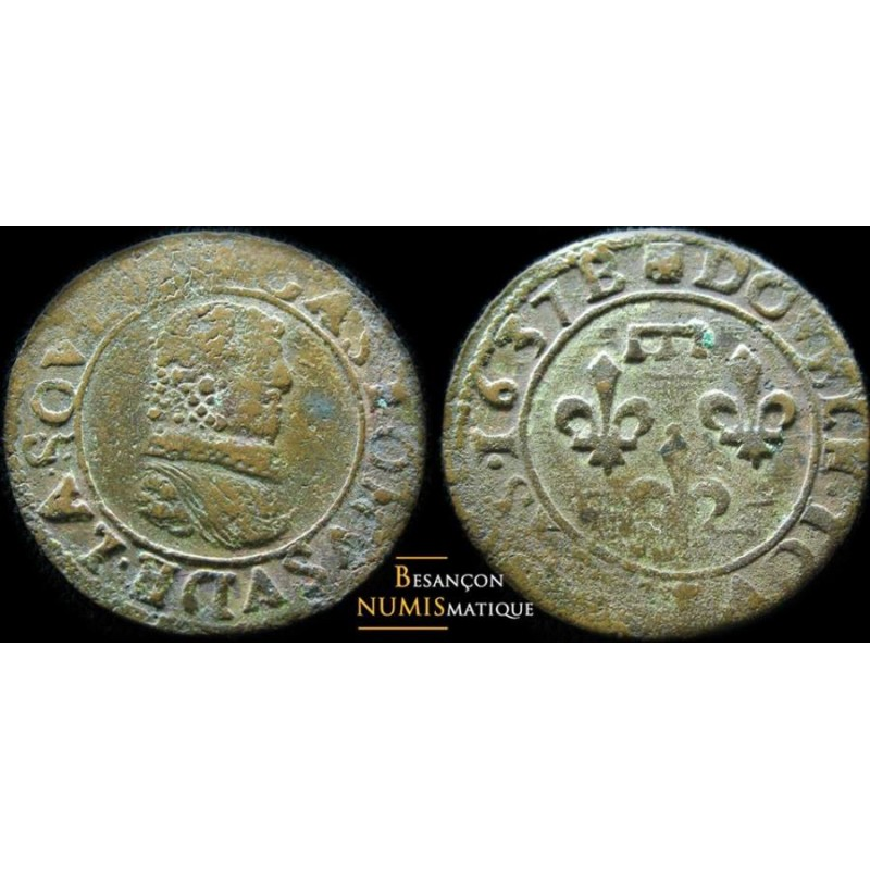 DOMBES - PRINCIPAUTÉ DE DOMBES - GASTON D'ORLÉANS - Double tournois - 1637