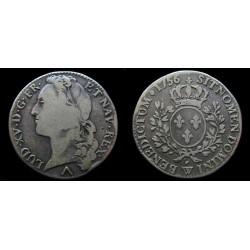 Louis XV - Demi Écu au...