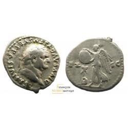 monnaie romaine de vespasien, denier à la judée captive