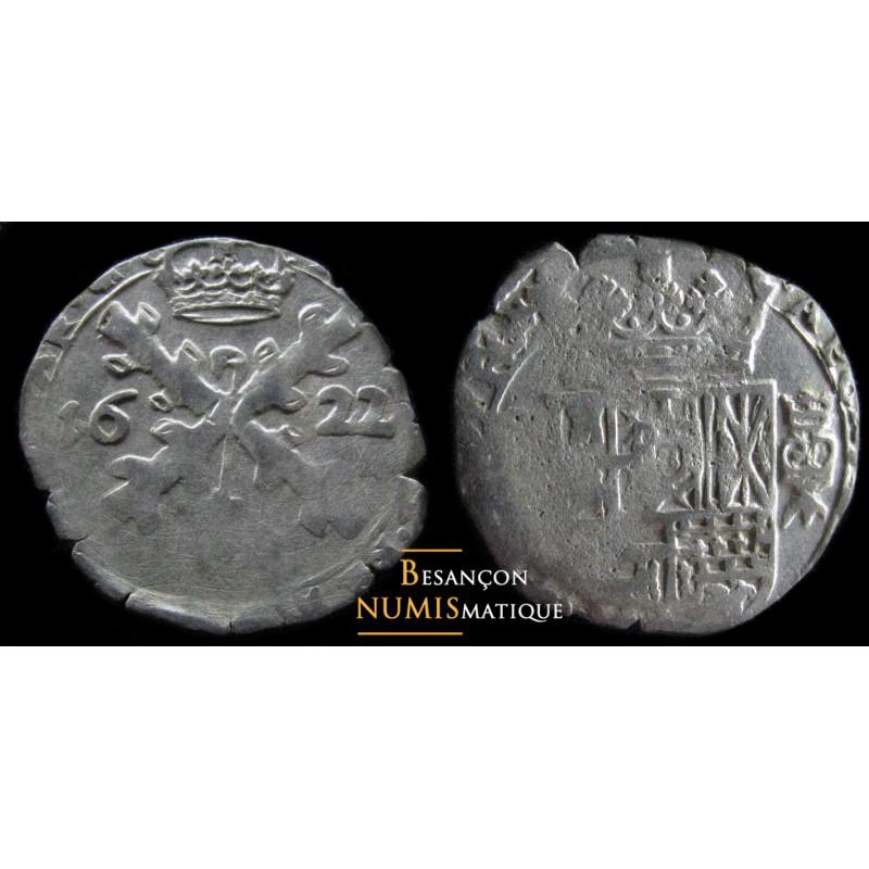 BOURGOGNE - PHILIPPE IV D'ESPAGNE - DOLE - TRENTE-DEUXIÈME DE PATAGON - 1622 - CMR 5.1.9 - TTB/SUP