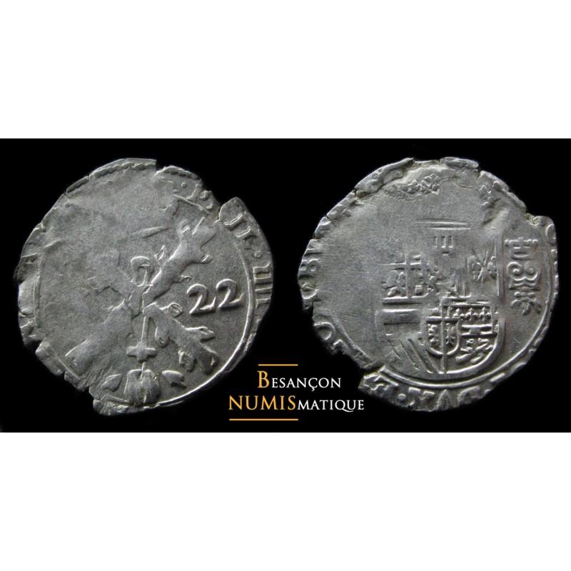 BOURGOGNE - PHILIPPE IV D'ESPAGNE - DOLE - TRENTE-DEUXIÈME DE PATAGON - 1622 - CMR 5.1.9 -ttb /sup