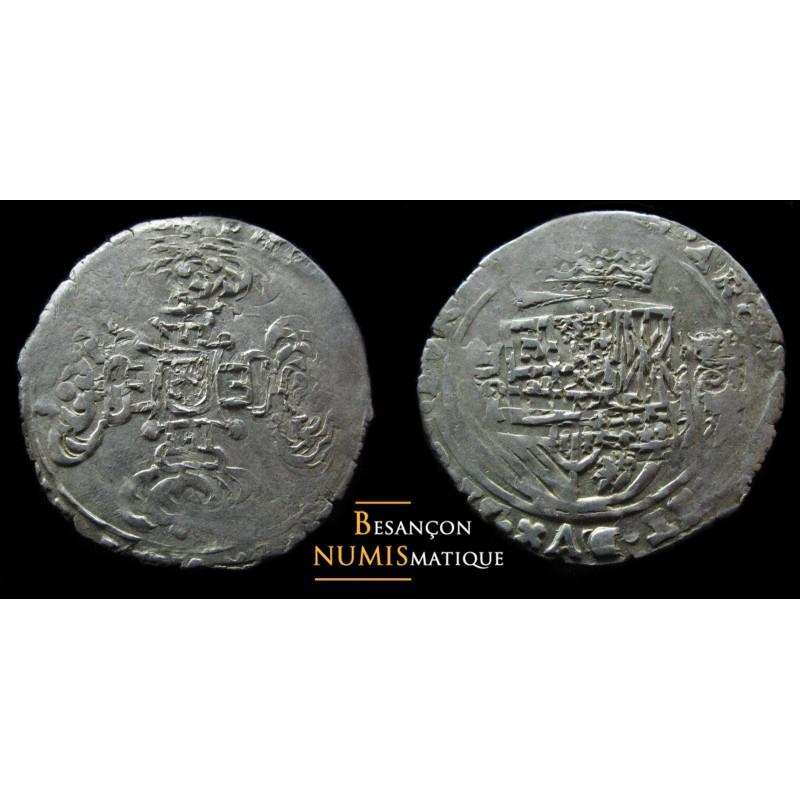 BOURGOGNE - PHILIPPE IV D'ESPAGNE - DOLE - SEIZIEME DE PATAGON- CMR 5.1.8 - XF !