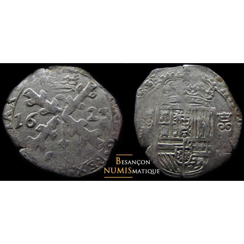 BOURGOGNE - PHILIPPE IV D'ESPAGNE - DOLE - TRENTE-DEUXIÈME DE PATAGON - 1623 - CMR 5.1.9 - TTB/SUP