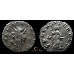 Monnaie romaine de Gallien secvurit perpet