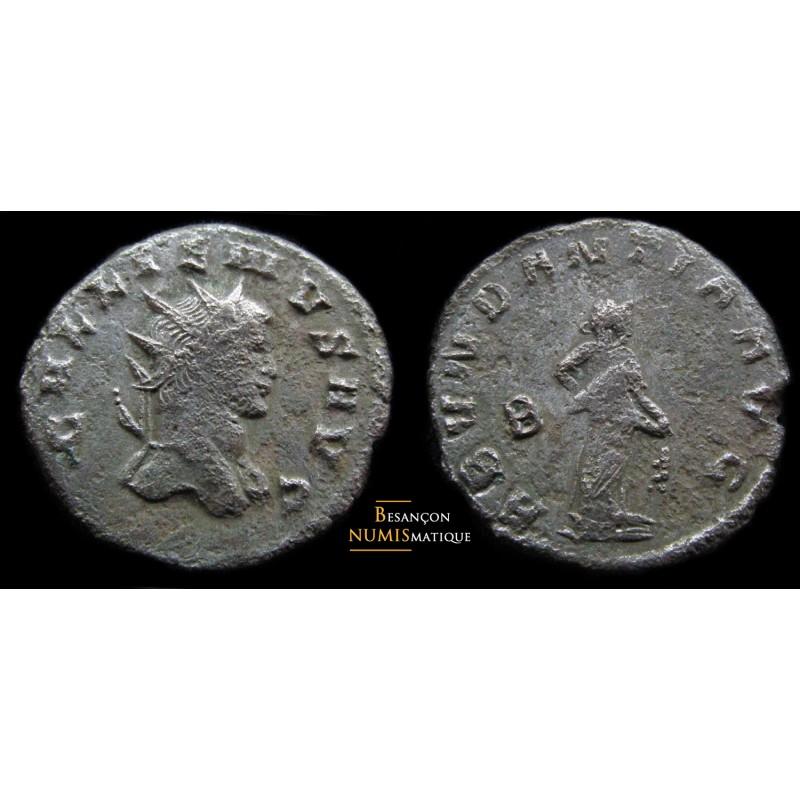Monnaie romaine de Gallien avec rare buste E