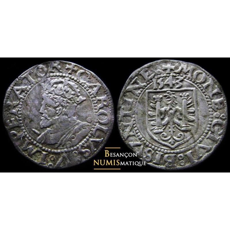FRANCHE-COMTÉ - VILLE DE BESANÇON - Carolus - 1543 - BELLE MONNAIE !!!!