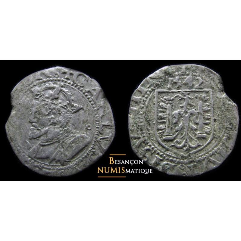 BESANÇON - CAROLUS - 1542 - 0.50 g !!