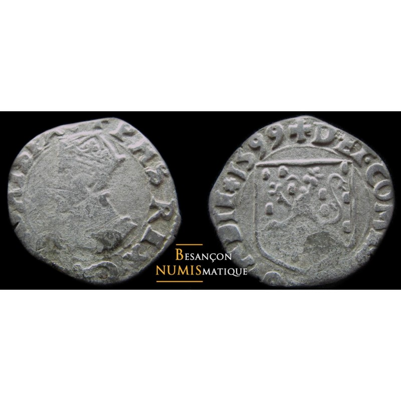 BOURGOGNE - PHILIPPE II D'ESPAGNE - DOLE - Carolus - 1599 -  RARE !!!