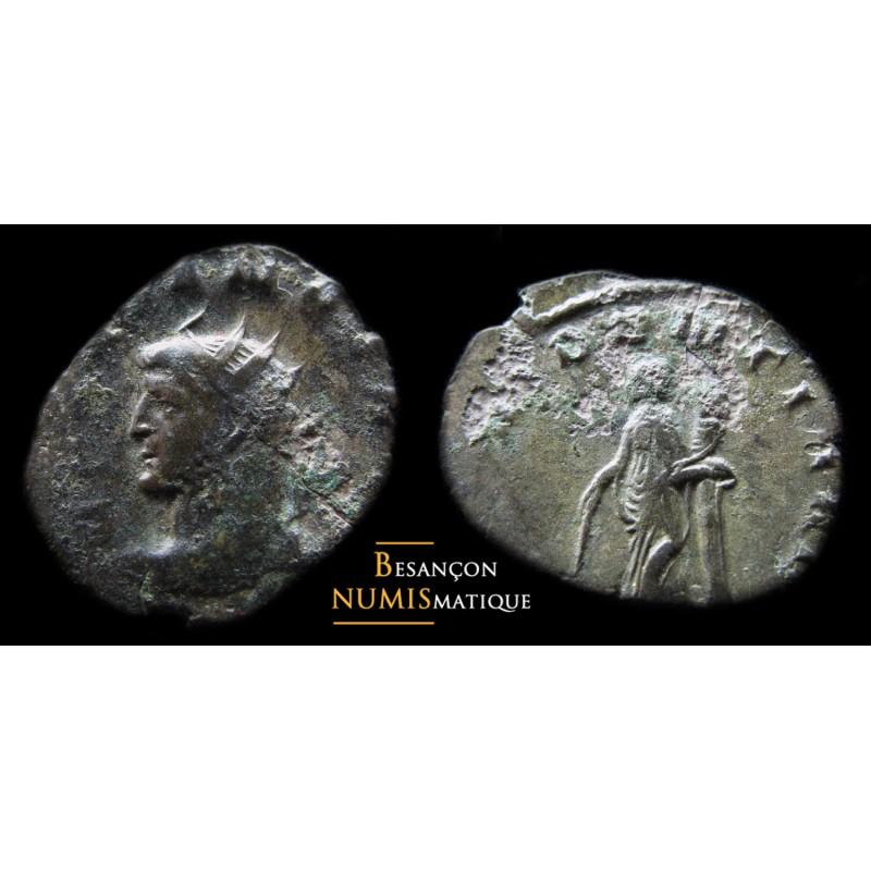 Monnaie romaine de Gallien buste à gauche, Milan