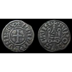 monnaie de PHILIPPE VI, DENIER  TOURNOIS, variété inédite