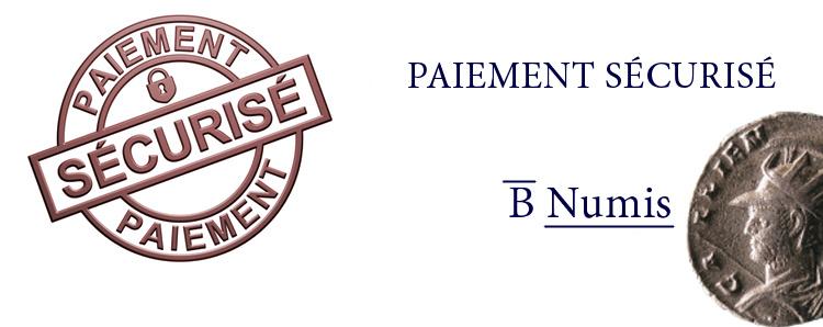 Paiement sécurisé de la boutique numismatique Bnumis