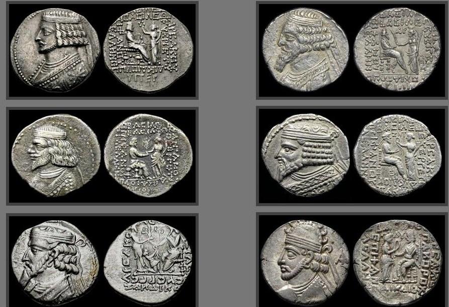 Quelques unes des monnaies parthes volées le 24/12/2018.