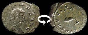 Antoninien de Gallien axe des coins 5h