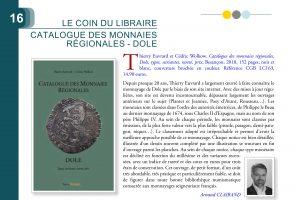 RECENSION Arnaud CLAIRAND SUR CATALOGUE DES MONNAIES RÉGIONALES DOLE