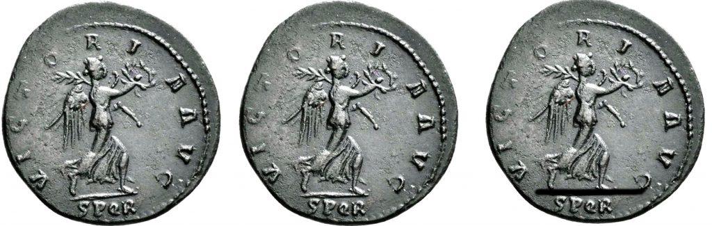 Orientation des revers romains