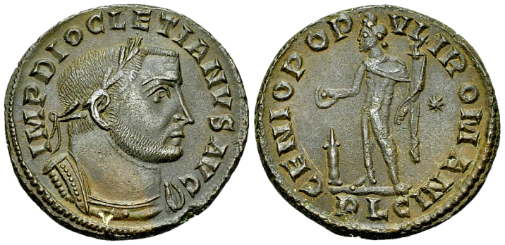 Nummus de DIOCLETIEN au revers GENIO POPVLI ROMANI
