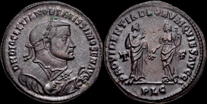 Nummus de Diocletien comme auguste séniore